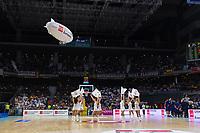 Madrid, 12 de noviembre de 2017. Las cheerleaders durante el encuentro entre el Real Madrid Baloncesto y FC Barcelona Lassa, correspondiente a la octava jornada de la Liga Endesa, disputado en el WiZink Center. (Foto: Mateo Villalba-Agencia LOF)