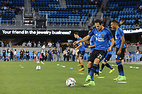 San Jose, CA - Wednesday September 27, 2017: Marco Ureña prior to a Major League Soccer (MLS) match between the San Jose Earthquakes and the Chicago Fire at Avaya Stadium.