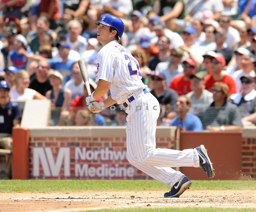 TYLER COLVIN, of the Chicago Cubs, in action during the Cubs game against the Anaheim Angels at Wrigley Field in Chicago, IL on June 18, 2010.  ..The Angels won the game 7-6...