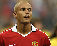 Wes Brown #6 of Manchester United during the 2010 MLS All-Star match against the MLS All-Stars at Reliant Stadium, on July 28 2010, in Houston, Texas. ManU won 5-2.