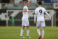 Pictured: Joe Lewis of Swansea (L) celebrates his goal. Tuesday 01 May 2018<br /> Re: Swansea U19 v Cardiff U19 FAW Youth Cup Final at the Liberty Stadium, Swansea, Wales, UK