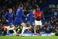 Paul Pogba of Manchester United races upfield during Chelsea vs Manchester United, Emirates FA Cup Football at Stamford Bridge on 18th February 2019