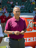 CARSON, CA - August 25, 2013: Chivas USA head coach before the Chivas USA vs New York Red Bulls match at the StubHub Center in Carson, California. Final score, Chivas USA 3, New York Red Bulls 2.