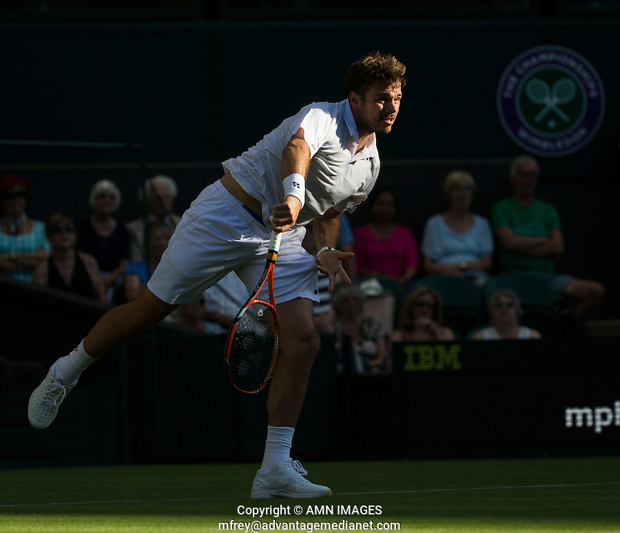 STAN WAWRINKA (SUI)<br /> <br /> TENNIS - THE CHAMPIONSHIPS - WIMBLEDON 2015 -  LONDON - ENGLAND - UNITED KINGDOM - ATP, WTA, ITF <br /> <br /> &copy; AMN IMAGES