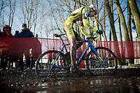 Thomas Van de Velde (BEL/U23/Isorex)<br /> <br /> Azencross Loenhout 2014