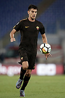 Calcio, Serie A: Roma, stadio Olimpico, 16 settembre 2017.<br /> Roma's Luca Pellegrini in action during the Italian Serie A football match between AS Roma and Hellas Verona at Rome's Olympic stadium, September 16, 2017.<br /> UPDATE IMAGES PRESS/Isabella Bonotto