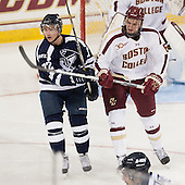 Steven Kuhn (StFX - 72), Steven Santini (BC - 6) - The Boston College Eagles defeated the visiting St. Francis Xavier University X-Men 8-2 in an exhibition game on Sunday, October 6, 2013, at Kelley Rink in Conte Forum in Chestnut Hill, Massachusetts.