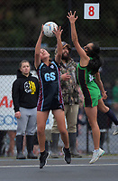 Netball on day three of the 2019 AIMS games at Blake Park in Mount Maunganui, New Zealand on Tuesday, 10 September 2019. Photo: Dave Lintott / lintottphoto.co.nz