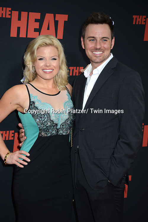 Megan Hilty and guest attends the New York Premiere of &quot;The Heat&quot; on June 23,2013 at the Ziegfeld Theatre in New York City. The movie stars Sandra Bullock, Melissa McCarthy, Demian Bichir, Marlon Wayans, Joey McIntyre, Jessica Chaffin, Jamie Denbo, Nate Corddry, Steve Bannos, Spoken Reasons and Adam Ray. <br /> Megan Hilty attends the New York Premiere of &quot;The Heat&quot; on June 23,2013 at the Ziegfeld Theatre in New York City. The movie stars Sandra Bullock, Melissa McCarthy, Demian Bichir, Marlon Wayans, Joey McIntyre, Jessica Chaffin, Jamie Denbo, Nate Corddry, Steve Bannos, Spoken Reasons and Adam Ray.