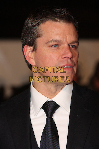 "MATT DAMON .Attending the ""Invictus'"" UK Film Premiere at the Odeon West End cinema, Leicester Square, London, England, January 31st, 2010..arrivals portrait headshot black tie white shirt profile .CAP/ROS.©Steve Ross/Capital Pictures"