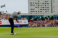 Adam Scott (AUS) on the 18th green during round 4 of the Australian PGA Championship at  RACV Royal Pines Resort, Gold Coast, Queensland, Australia. 22/12/2019.<br /> Picture TJ Caffrey / Golffile.ie<br /> <br /> All photo usage must carry mandatory copyright credit (© Golffile   TJ Caffrey)