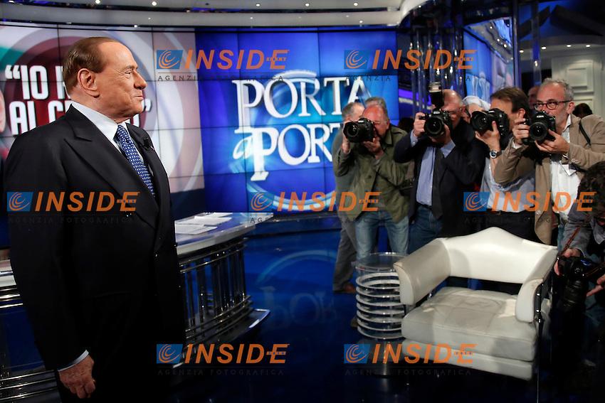 Silvio Berlusconi<br /> Roma 25-05-2016 Trasmissione tv Porta a Porta. <br /> Tv Show Porta a Porta. <br /> Photo Samantha Zucchi Insidefoto