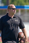 Torrance, CA 09/08/11 - Coach Patterson  in action during the North-Peninsula Junior Varsity Football game at North High School in Torrance.