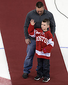 Douglas took part in a ceremonial face drop on behalf of Love Your Melon. - The visiting Merrimack College Warriors defeated the Boston University Terriers 4-1 to complete a regular season sweep on Friday, January 27, 2017, at Agganis Arena in Boston, Massachusetts.The visiting Merrimack College Warriors defeated the Boston University Terriers 4-1 to complete a regular season sweep on Friday, January 27, 2017, at Agganis Arena in Boston, Massachusetts.
