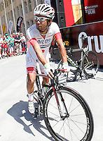 Yujihiro Doi before the stage of La Vuelta 2012 between Logroño and Logroño.August 22,2012. (ALTERPHOTOS/Acero) /NortePhoto.com<br /> <br /> **SOLO*VENTA*EN*MEXICO**<br /> **CREDITO*OBLIGATORIO**<br /> *No*Venta*A*Terceros*<br /> *No*Sale*So*third*<br /> *** No Se Permite Hacer Archivo**<br /> *No*Sale*So*third*