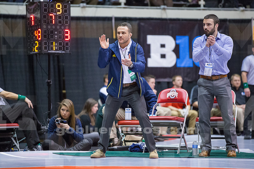 Session 1 of the Big Ten Wrestling Championships in Columbus, Ohio on March 7, 2015.
