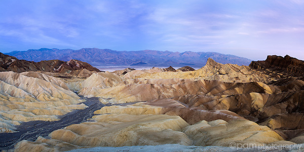 Dry riverbed at Death Valley's Zabriskie Point