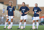 27 September 2009: UNC's starting defense. From left: Kristi Eveland, Whitney Engen, and Rachel Givan. The University of North Carolina Tar Heels defeated the Wake Forest University Demon Deacons 4-0 at Fetzer Field in Chapel Hill, North Carolina in an NCAA Division I Women's college soccer game.