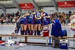 Auszeit beim MHC  beim Spiel der Hockey Bundesliga Damen, TSV Mannheim (hell) - Mannheimer HC (dunkel).<br /> <br /> Foto © PIX-Sportfotos *** Foto ist honorarpflichtig! *** Auf Anfrage in hoeherer Qualitaet/Aufloesung. Belegexemplar erbeten. Veroeffentlichung ausschliesslich fuer journalistisch-publizistische Zwecke. For editorial use only.