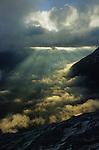 Vue sur le glacier de Saas Fee et la vallée de Saas Fee