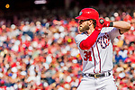 8 July 2017: Washington Nationals outfielder Bryce Harper in action against the Atlanta Braves at Nationals Park in Washington, DC. The Braves shut out the Nationals 13-0 to take the third game of their 4-game series. Mandatory Credit: Ed Wolfstein Photo *** RAW (NEF) Image File Available ***