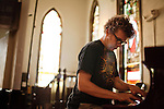 September 14, 2010.  Durham, North Carolina.. Phil Cook.. Day One of Sounds of the South, a reinterpretation of Alan Lomax's field recordings, with music by Megafaun, Fight the Big Bull, Sharon Van Etten and Justin Vernon of Bon Iver..