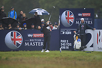Tommy Fleetwood (ENG) on the 2nd tee during Round 4 of the Sky Sports British Masters at Walton Heath Golf Club in Tadworth, Surrey, England on Sunday 14th Oct 2018.<br /> Picture:  Thos Caffrey | Golffile<br /> <br /> All photo usage must carry mandatory copyright credit (&copy; Golffile | Thos Caffrey)
