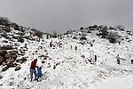 The Golan Heights. Snow on Mount Hermon
