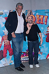 03.10.2012. Celebrities attending the premiere of the show ´Eoloh´, at the  Teatros del Canal, Madrid,  Spain. In the image (L-R) Fernando Romay and Javier Camara (Alterphotos/Marta Gonzalez)