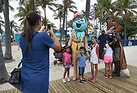 MIAMI BEACH, FL - FEBRUARY 1: FOX SUPER BOWL LIV ACTIVATION AT LUMMUS PARK AND FOX SPORTS SOUTH BEACH STUDIO: Mr. Fox and Ice Cream from The Masked Singer at FOX's weeklong interactive fan experience on the beach in Miami at Lummus Park on February 1, 2020 in Miami Beach, Florida. (Photo by Frank Micelotta/Fox/PictureGroup)