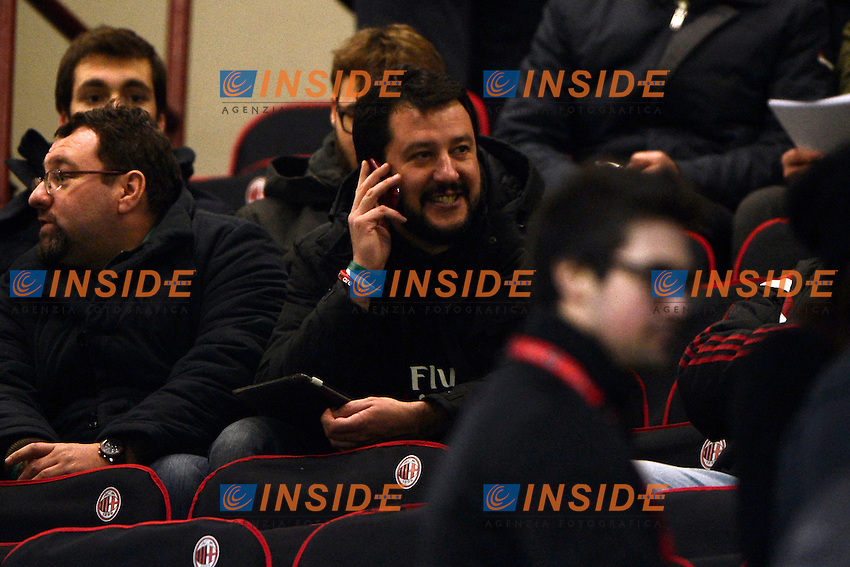 Matteo Salvini <br /> Milano 01-02-2015 Stadio Giuseppe Meazza - Football Calcio Serie A Milan - Parma. Foto Giuseppe Celeste / Insidefoto