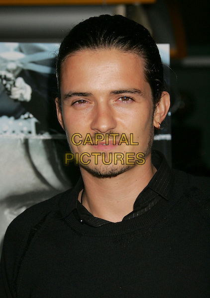 "ORLANDO BLOOM.""Haven"" Premiere held at at the ArcLight Cinemas, Hollywood, California, USA..Septmeber 12th, 2006.Ref: ADM/RE.headshot portrait earring mustache goatee facial hair.www.capitalpictures.com.sales@capitalpictures.com.©Russ Elliot/AdMedia/Capital Pictures."