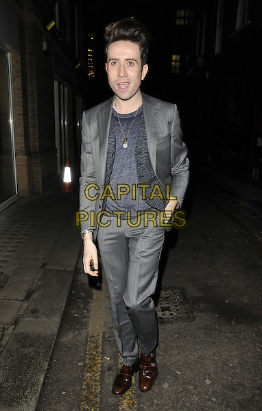 LONDON, ENGLAND - JANUARY 08: Nick Grimshaw attends the Anya Hindmarch &amp; Dylan Jones dinner to mark the end of the London Collections: Men a/w 2014 season, Hakkasan bar &amp; restaurant, Hanway Place, on Wednesday January 08, 2014 in London, England, UK.<br /> CAP/CAN<br /> &copy;Can Nguyen/Capital Pictures