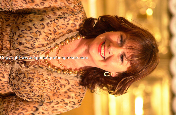 actress Mary Walsh<br /> on  the set of MAMBO ITALIANO ,Directed by Emile Gaudreault and co-written with Steve Galluccio , based on his  theater play.<br /> <br /> The son of Italian immigrants to Canada struggles to find the best way to reveal to his parents that he's gay<br /> <br /> photo : (c)  Images Distribution