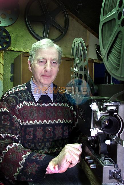 Benny Matthews and his home cinema..pic:Arthur Carron/ Newsfile
