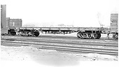 Side view of D&amp;RGW flatcar #6200 at Alamosa.<br /> D&amp;RGW  Alamosa, CO  5/30/1957