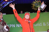 SCHAATSEN: AMSTERDAM: Olympisch Stadion, 01-03-2014, KPN NK Sprint/Allround, Coolste Baan van Nederland, podium Dames Sprint 1000m, Lotte van Beek, ©foto Martin de Jong