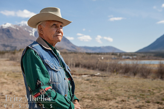 Carcross-Tagish elder Art Johns at Carcross, Yukon