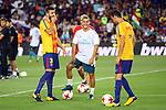 Supercopa de Espa&ntilde;a - Ida.<br /> FC Barcelona vs R. Madrid: 1-3.<br /> Gerard Pique, Lucas Vazquez &amp; Sergio Busquets.