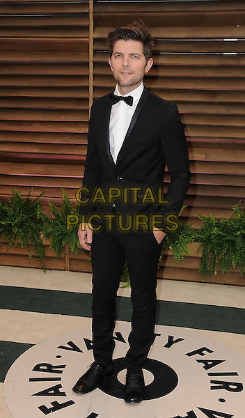 WEST HOLLYWOOD, CA - MARCH 2: Adam Scott arrive at the 2014 Vanity Fair Oscar Party in West Hollywood, California on March 2, 2014. <br /> CAP/MPI/MPI213<br /> &copy;MPI213 / MediaPunch/Capital Pictures