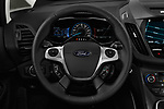 Car pictures of steering wheel view of a 2018 Ford C-Max Hybrid Titanium 5 Door Mini Van