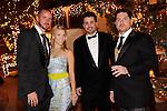 Jimmy Foster, Ashley Greenstein, Adam Rogas, David Hanson at Camelot at the Magical Village, Las Vegas, NV, November 6, 2010© Al Powers, VEGAS Magazine