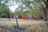 About the only building remaining in Hext Oklahoma a Route 66 ghost town, is the WPA school built in the 1930's.