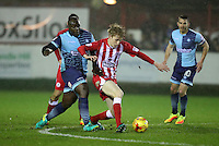 during the Sky Bet League 2 match between Accrington Stanley and Wycombe Wanderers at the Wham Stadium, Accrington, England on 28 February 2017. Photo by Tony  KIPAX.