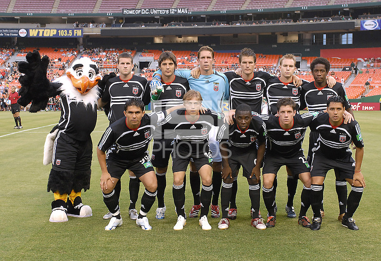 DC United staring XI. DC United defeated the Kansas City Wizards 1-0, Saturday, June 24, 2006.