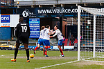 Goal celebration by Brett Pitman of Portsmouth. Oldham v Portsmouth League 1