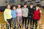 Students from Gaelcholáiste Chiarraí at the ETB Spikeball Blitz in the Tralee Sports Complex on Tuesday. <br /> L to r: Dervla Ní Sheafrí, Maeve Ní Shlatara, Saoirse Ní Dhonnchú, Conor Ó Géiní, Darragh O Maoldomhnaigh and Eon O Criodáin.