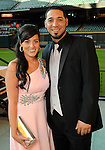 Noel and Marwin Gonzalez at the Astros Wives' Gala at Minute Maid Park Thursday Aug. 16, 2012.(Dave Rossman/For the Chronicle)