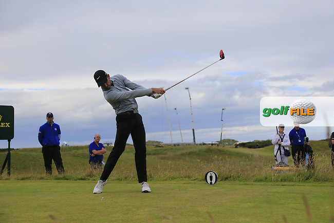 Charl Schwartzel (RSA) tees off the 15th tee during Sunday's Round 3 of the 144th Open Championship, St Andrews Old Course, St Andrews, Fife, Scotland. 19/07/2015.<br /> Picture Eoin Clarke, www.golffile.ie