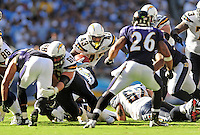 Sep. 20, 2009; San Diego, CA, USA; San Diego Chargers running back Darren Sproles against the Baltimore Ravens at Qualcomm Stadium in San Diego. Baltimore defeated San Diego 31-26. Mandatory Credit: Mark J. Rebilas-